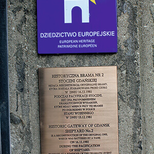 Memorial Plaque for the City of Gdańsk